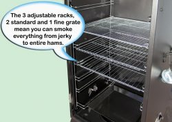 Camp Chef Smoke Vault 18: smoking, adjustable racks