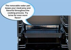 camp chef smoker: water pan