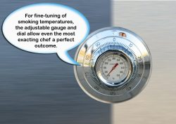 camp chef smoker: thermometer, temperature gauge