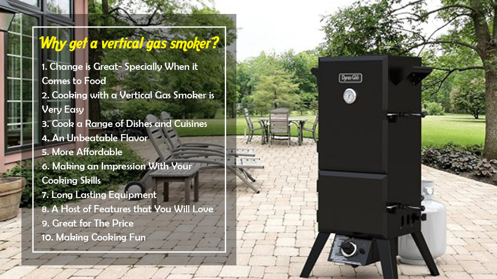 10 Hot Reasons to Get a Vertical Gas Smoker