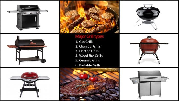 6 Major Types of Grills: Which One You Want?