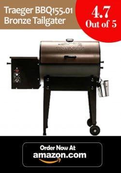 8. Traeger BBQ 155.01 Bronze Tailgater Pellet Grill w/EZ-Fold Legs & Digit Thermostat