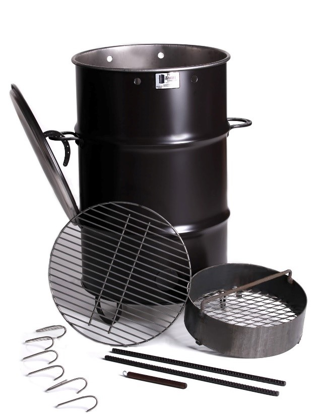 pit barrel cooker package review: different parts