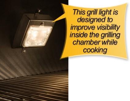 REC TEC Pellet Grill : grill light