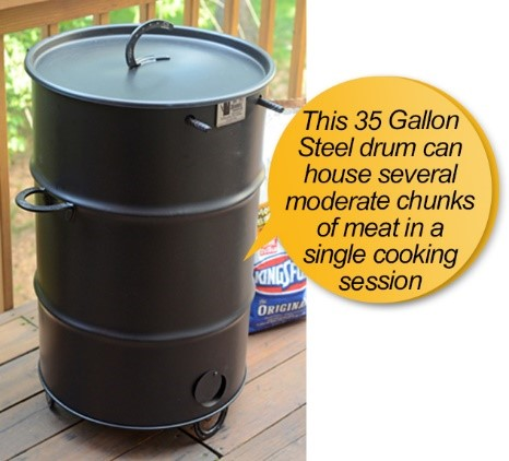 pit barrel cooker package review: barrel, steel drum