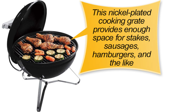 Weber 10020 Smokey Joe 14-Inch Portable Grill : cooking grate
