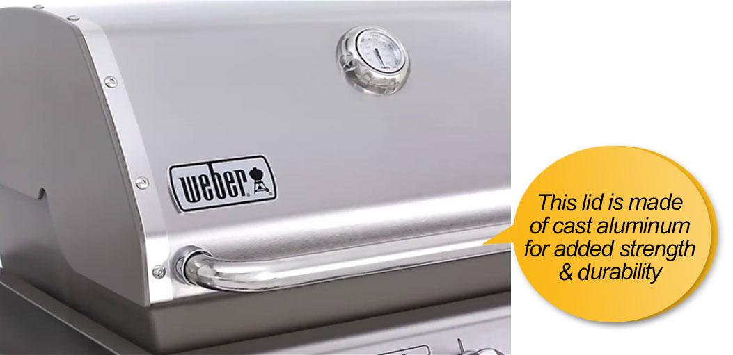 Weber Genesis 6531001 E-330 : cast aluminum lid