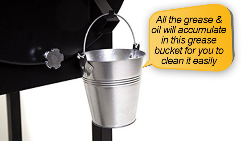 Camp Chef SmokePro LUX Review: grease catching bucket, grease cleanout
