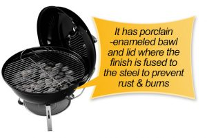 Weber 10020 Smokey Joe 14-Inch Portable Grill: bawl and lid