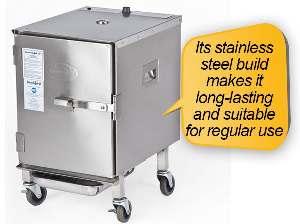 Smokin-It Model 1 Electric Smoker: stainless steel body construction