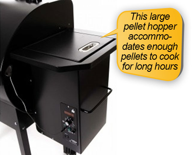 Camp Chef PG24 : pellet hopper