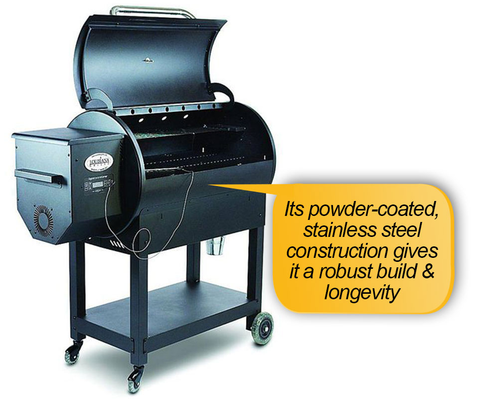 Louisiana Grills LG 900 Review: Powder coated stainless steel body