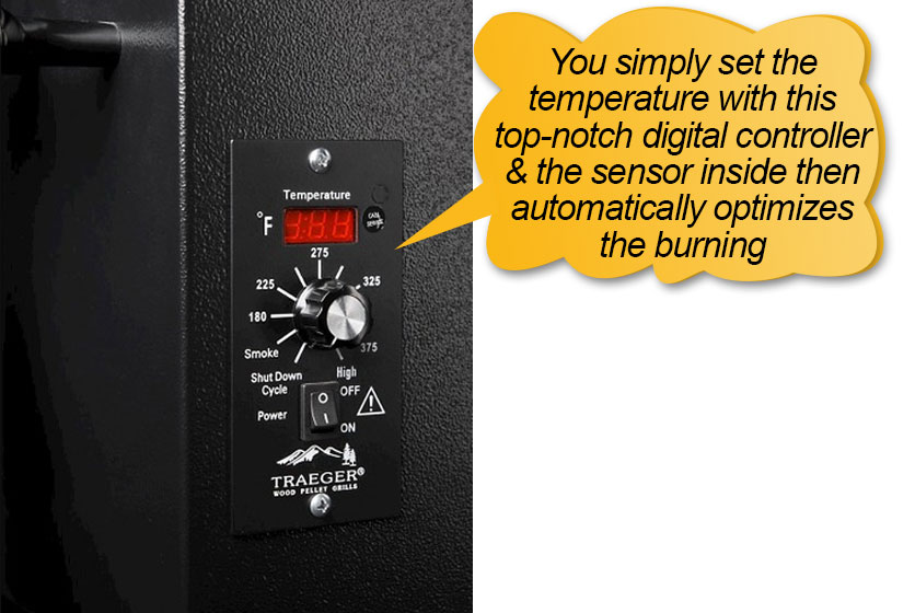 Traeger Pellet Grills BBQ155.01: State of the art digital control center, digital controller