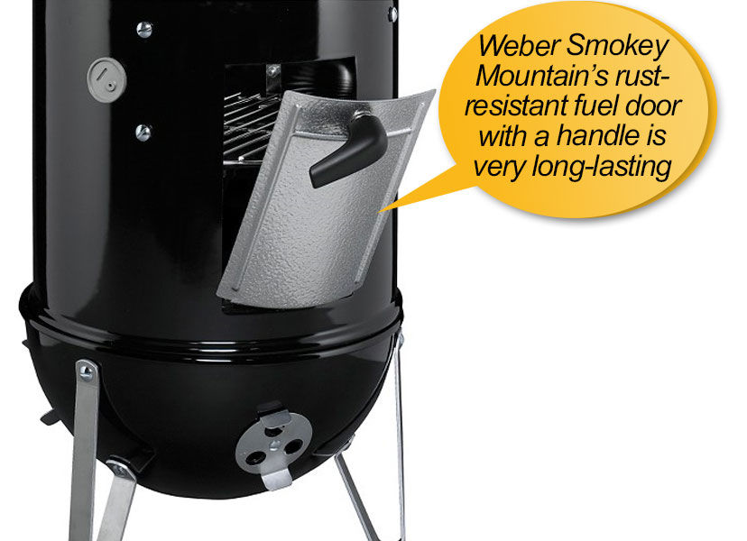 Weber 731001 Smokey Mountain charcoal smoker: fuel door