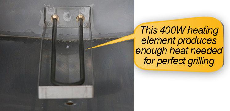 Smokin-It Model 1 Electric Smoker : 400 watt heating element