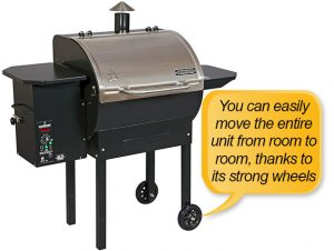 Camp Chef PG24S Pellet Grill and Smoker Deluxe: wheel, casters