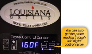 Louisiana Grills LG 900 Review: meat temperature probe reading
