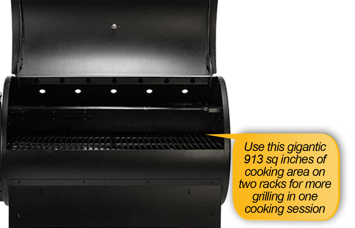 Louisiana Grills LG 900 Review: cooking area, cooking space