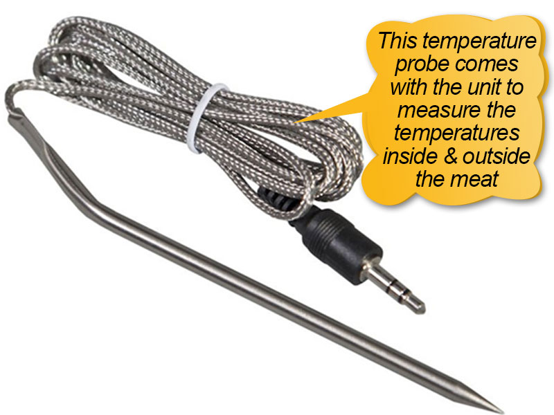 Traeger Pellet Grills BBQ155.01: meat temperature probe, thermometer