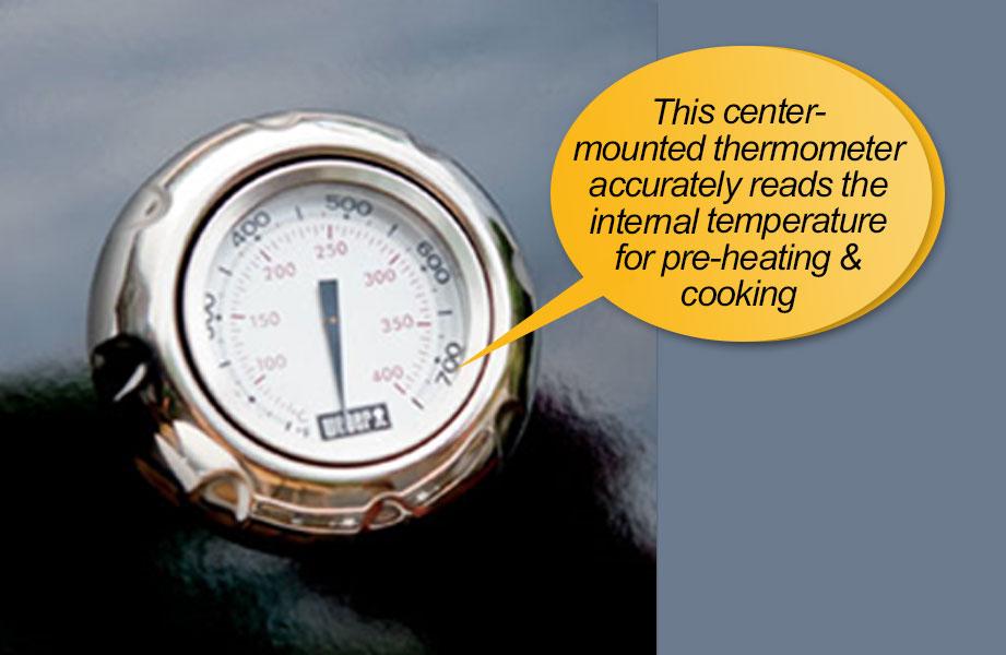 Weber Genesis 6531001 E-330 : thermometer, temperature gauge