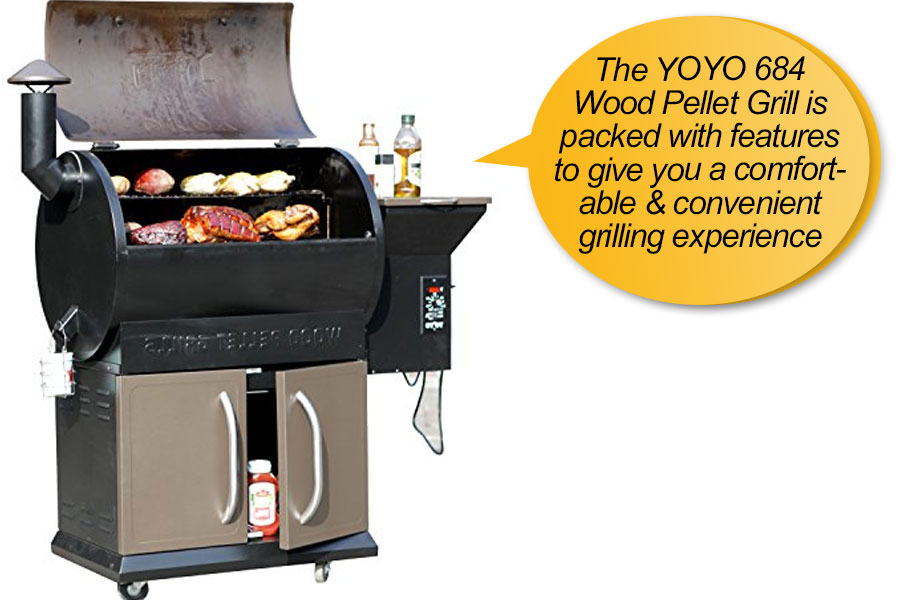 YOYO 684SQIN Wood Pellet Grills: review