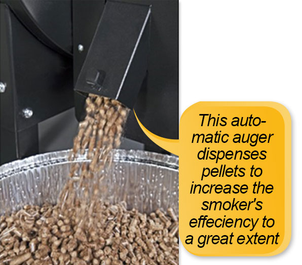 Camp Chef PG24S Pellet Grill and Smoker Deluxe: pellet dispenser, pellet cleanout