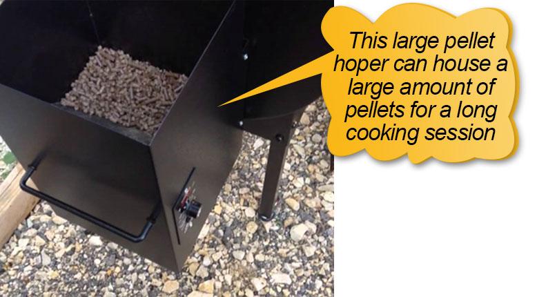Traeger Pellet Grills BBQ155.01: pellet hopper