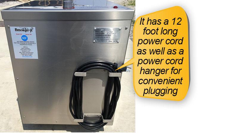 Smokin-It Model 1 Electric Smoker : power cord, power cord hanger