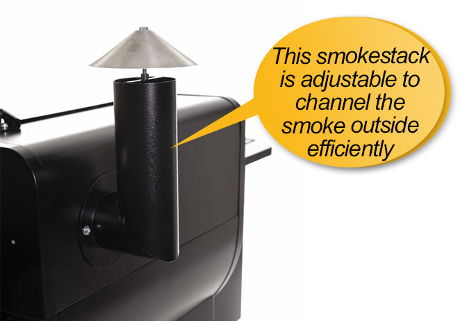 Camp Chef SmokePro SE Grill and Smoker review: smoke stack_smoke chimney