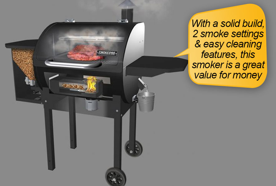 Camp Chef PG24 : 2 smoke settings and easy cleaning features