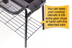 Char-Broil American Gourmet Offset Smoker : extra gear wired shelf