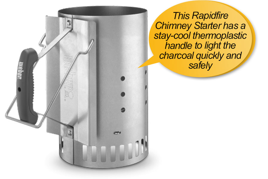 Weber 731001 Smokey Mountain charcoal smoker: chimney starter