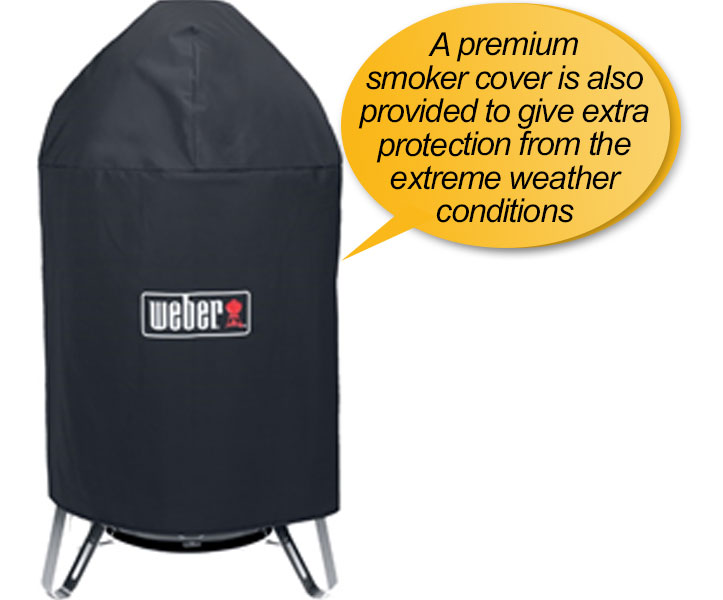 Weber 731001 Smokey Mountain charcoal smoker: smoker cover