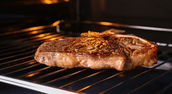 How to Cook a Thick Steak in an Oven