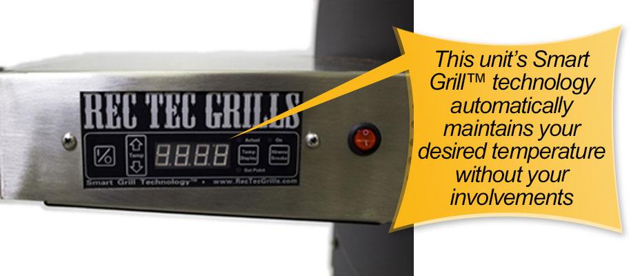 REC TEC Pellet Grill: precise temperature control