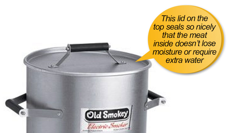 old smokey grill: lid