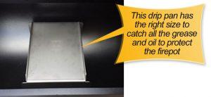 REC TEC Pellet Grill : drip pan