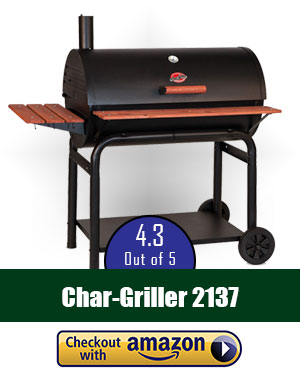 Char-Griller 2137 Outlaw 1063 Square Inch Charcoal Grill/Smoker review