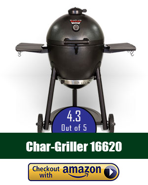 Char-Griller 16620 Akorn Kamado Kooker Charcoal Barbecue Grill and Smoker, Black review