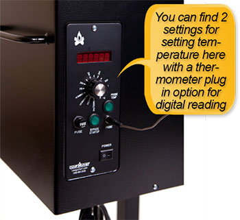 Camp Chef PG24S Pellet Grill and Smoker Deluxe: LED temperature readout, digital control center