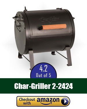 Char-Griller 2-2424 Table Top Charcoal Grill & Char Griller Side Fire Box