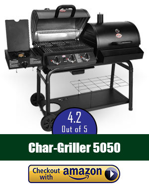 Char-Griller 5050 Charcoal and Gas Duo Grill