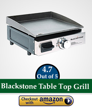 flat top gas griller: Blackstone Table Top Grill - 17 Inch Portable Gas Griddle - Propane Fueled