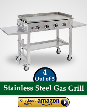 flat top gas griller: Blackstone 36 inch Stainless Steel Outdoor Cooking Gas Grill Griddle Station