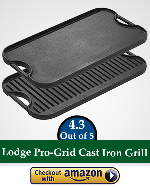 flat top gas griller: Lodge LPGI3 Cast Iron Reversible Grill/Griddle