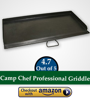flat top gas griller: Camp Chef SG30 Professional Steel Fry Flat Top Griddle, Pre-Seasoned - Fits All Blue Flame Stoves (single burner)