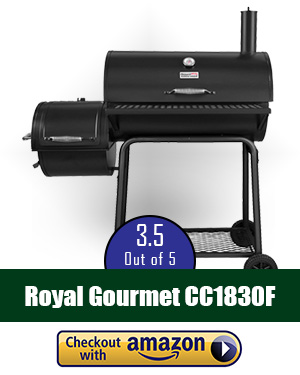best offset smoker: Royal Gourmet Offset Smoker with Charcoal Grill